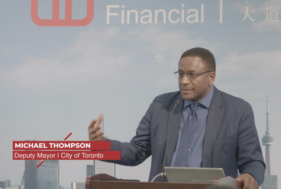 OTT welcomes Deputy Mayor Michael Thompson